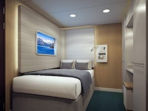 Norwegian Bliss Studio Cabin with virtual ocean view window