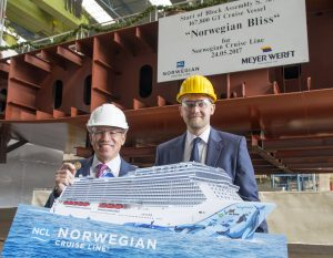 Norwegian Bliss Keel Ceremony Meyer Werft