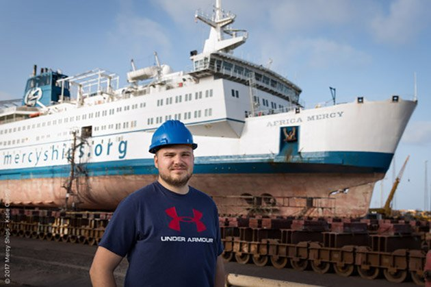 Engineer joins the crew to help and support Mercy Ships in West Africa