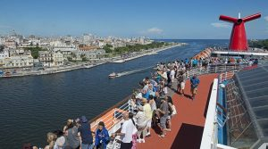The Carnival Paradise arrives in Havana Harbor in Havana, Cuba