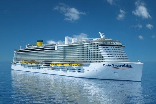 Construction Work Begins On Costa Smeralda Costa Cruises First - Cruise ship fuel
