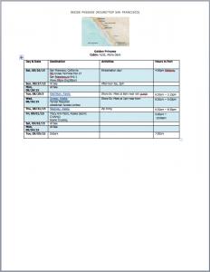 Sample Wall Mount Itinerary